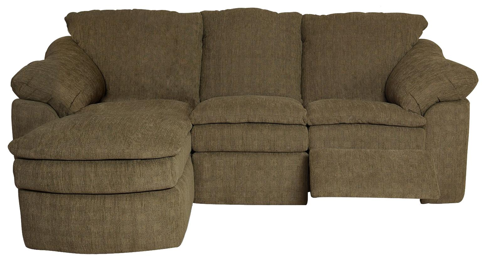 England Seneca Falls Three Piece Reclining Sectional - Item Number: 7300-06+39+57