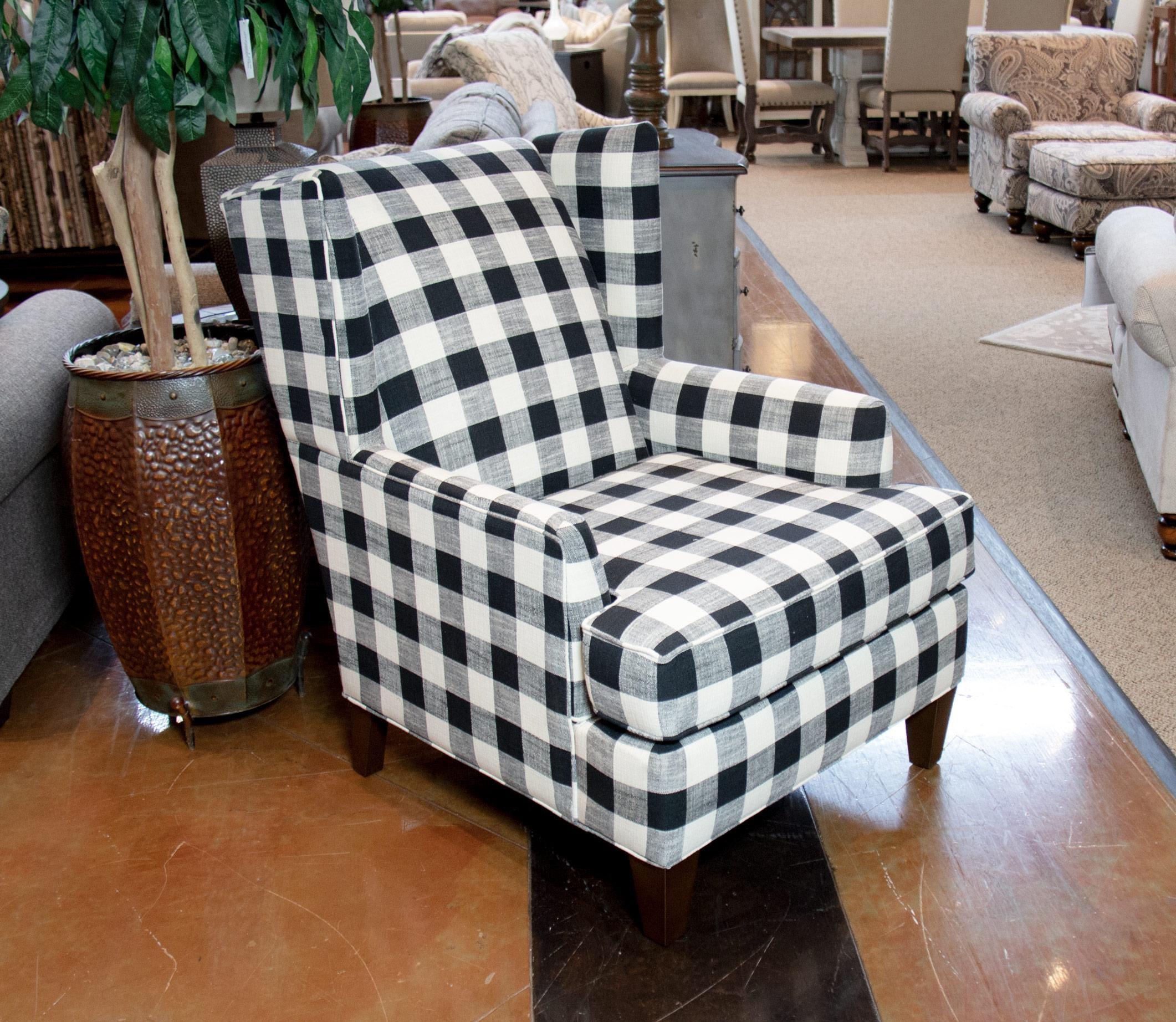 Blake Raven Wingback Chair
