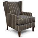 England Shipley Wing Back Arm Chair - Item Number: 494-Faraday-Pewter