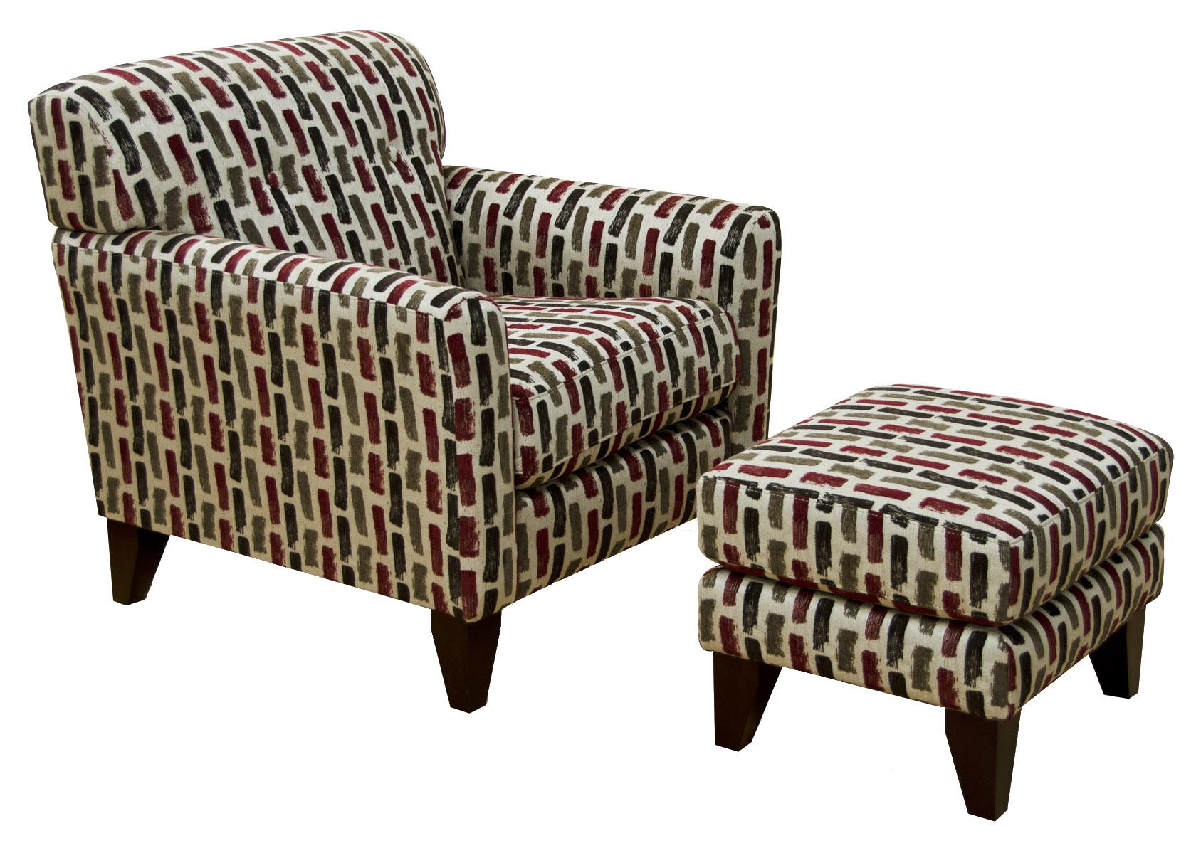 England Shockley Chair and Ottoman - Item Number: 7334+37