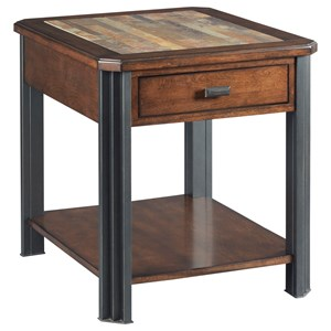 England Slaton Rectangular Drawer End Table