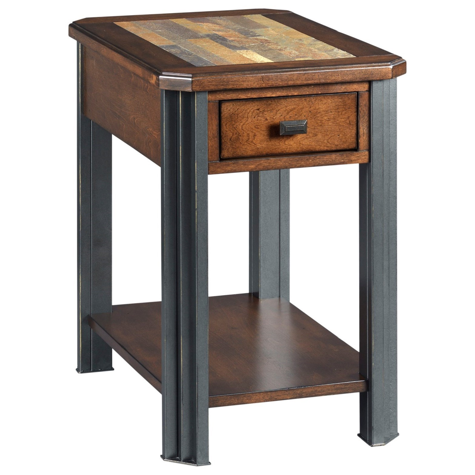 England Slaton Transitional Chairside Table With Drawer Sadler S Home Furnishings End Tables