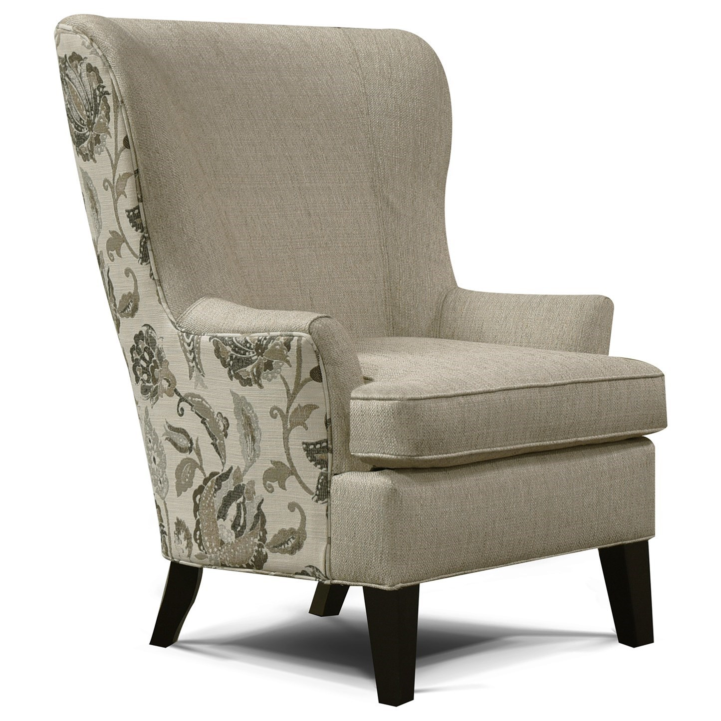 England Smith 4544 Living Room Arm Chair with Wing Style | Furniture ...