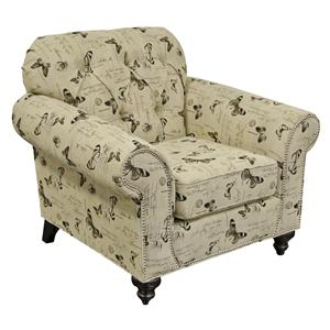 England Stacy Chair with Nailheads
