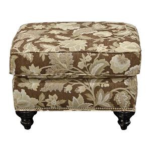 Ottoman with Nail Heads
