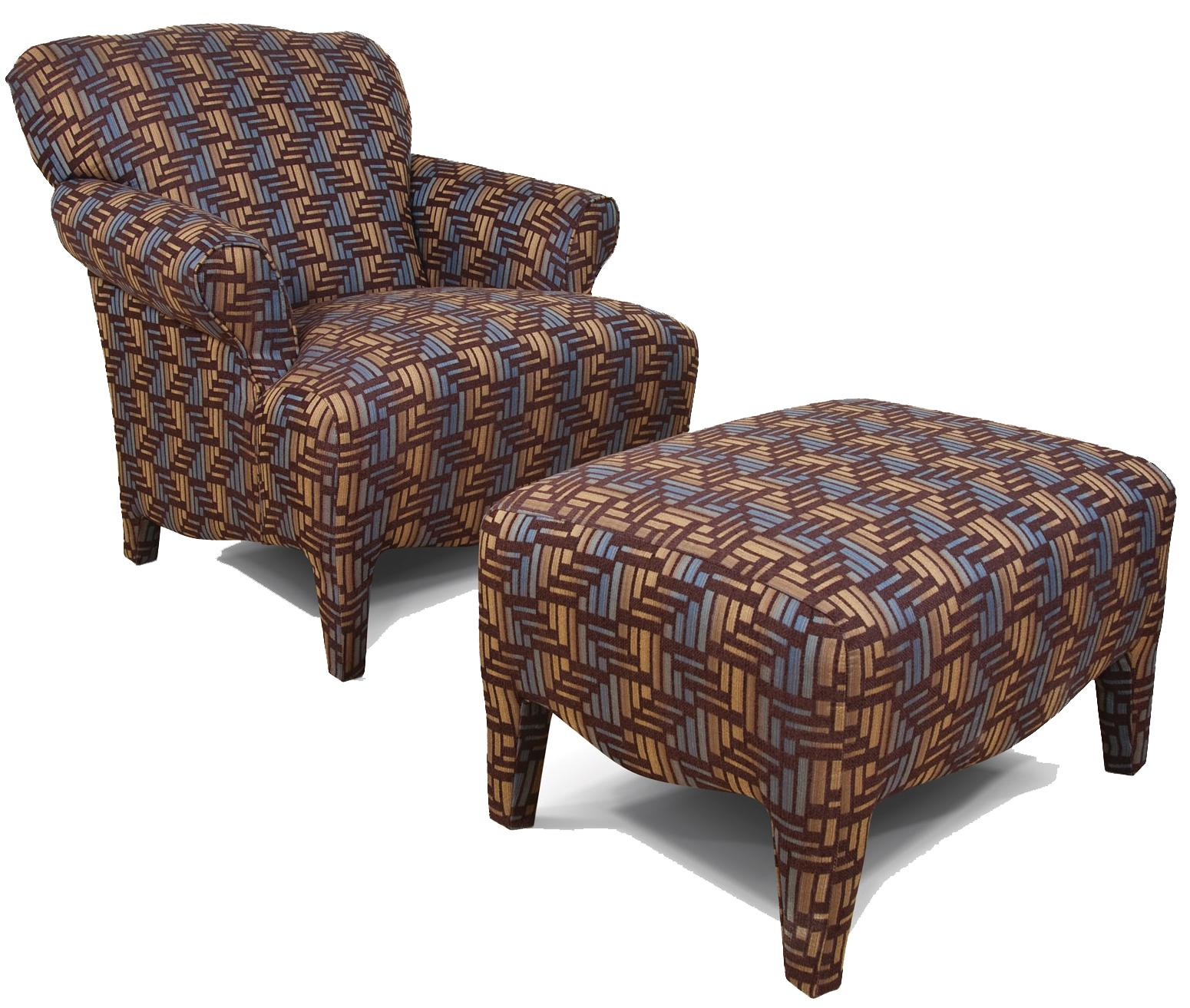 England Summit Upholstered Chair & Ottoman - Item Number: 3854+7