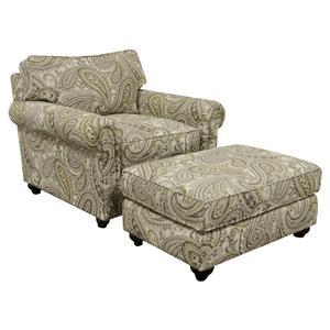 England Sumpter Chair and Ottoman Set