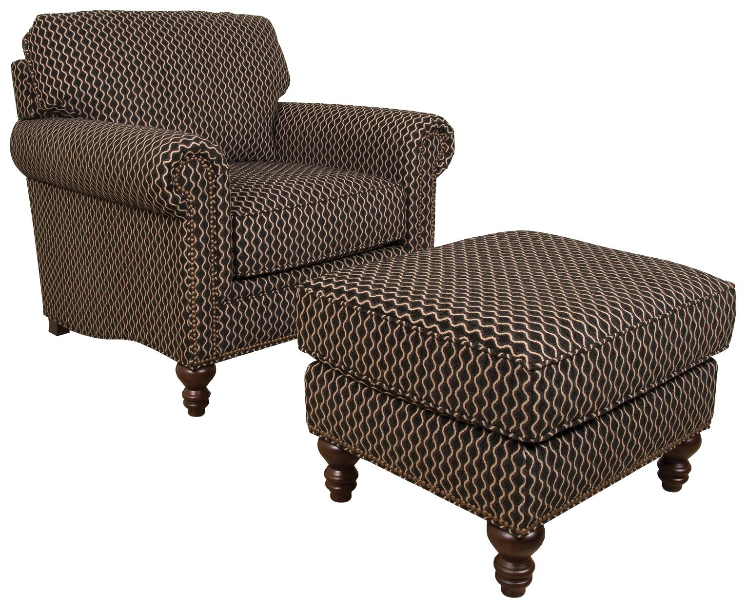England Telisa  Living Room Chair and Ottoman - Item Number: 5834+7