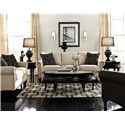 England Telisa  Living Room Sofa with Classic Furniture Style - Shown with Coordinating Collection Loveseat. Collection Chair Shown Right Corner.