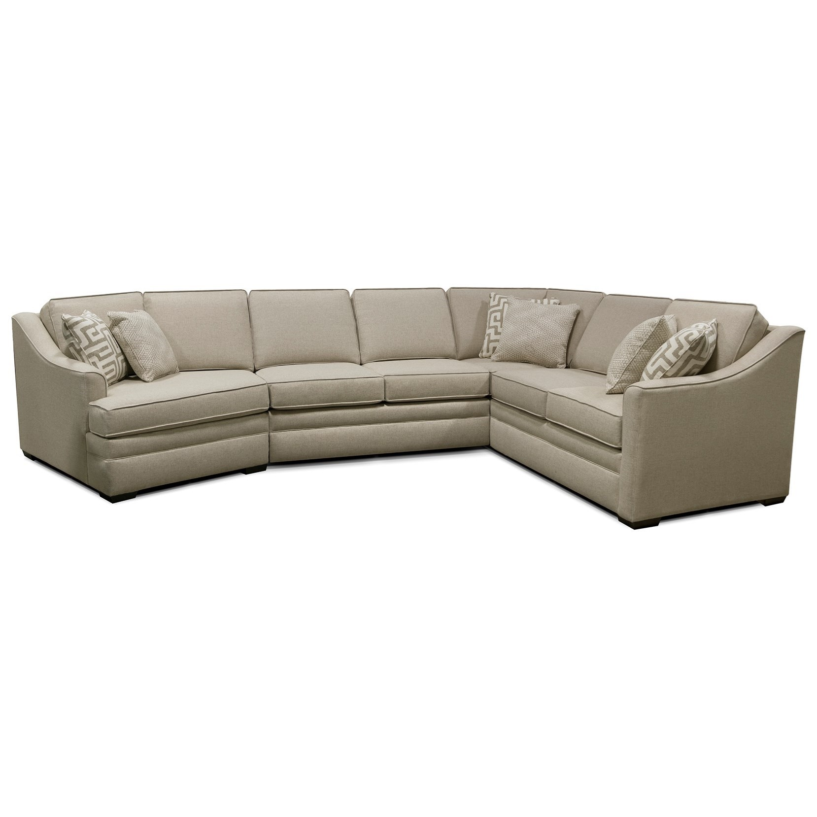 England Thomas Sectional Sofa with Five Seats - Item Number: 4T00-94+43+22+27