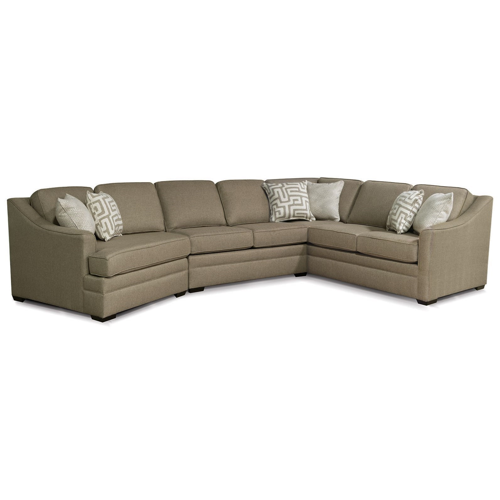 England Thomas Sectional Sofa with Cuddler | Miller Home ...