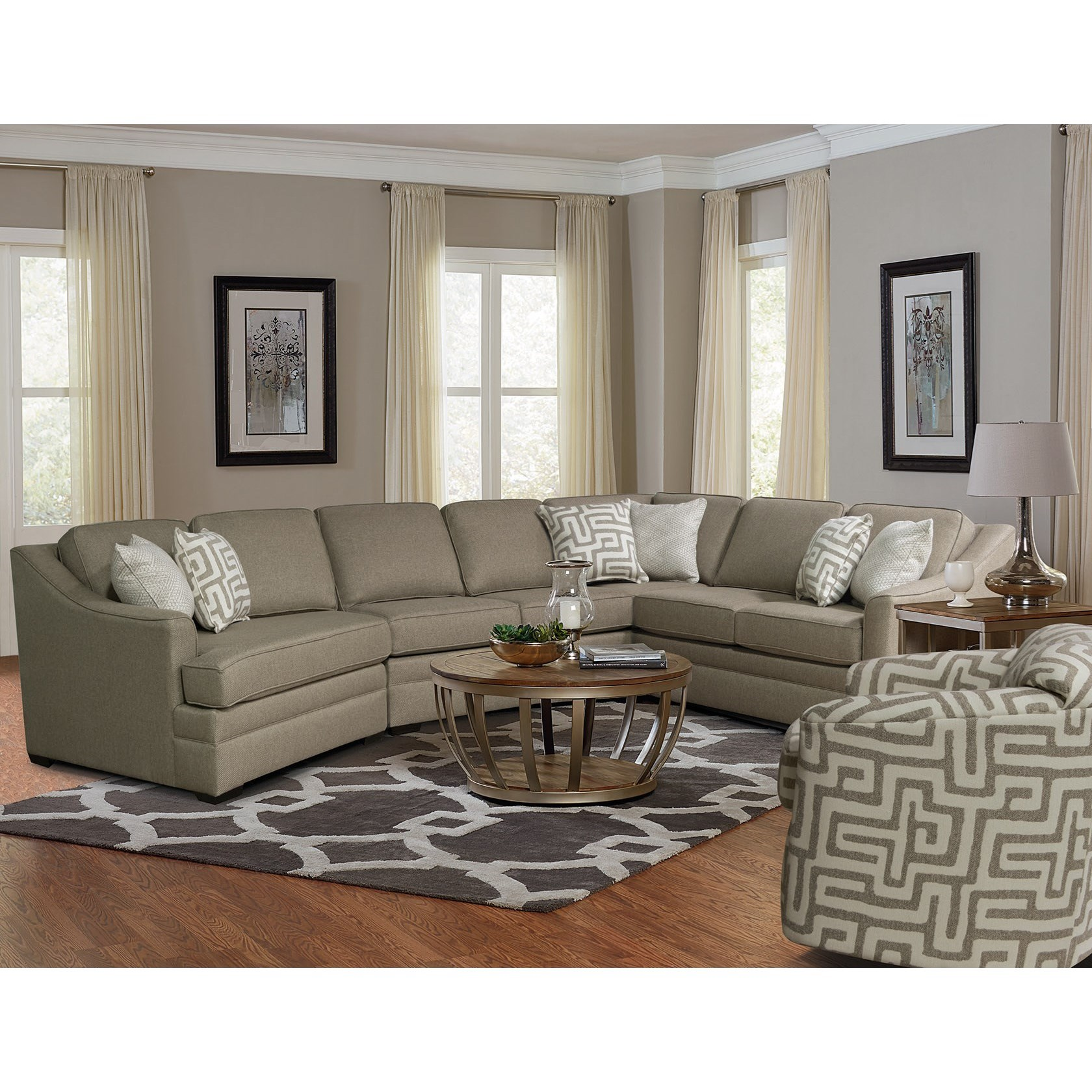 Romero Living Room Sectional Jerome 039 S Furniture: England Thomas Sectional Sofa With Cuddler