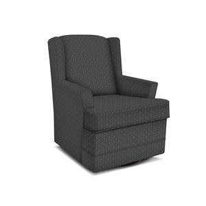 Casual Styled Swivel Chair