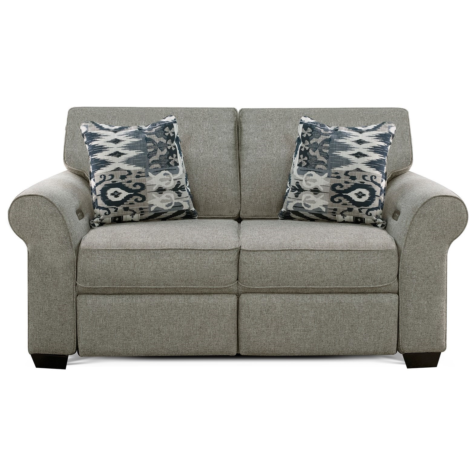 Wallace Loveseat with Power Ottoman by England at Belfort Furniture