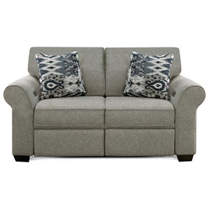 Loveseat with Power Ottoman