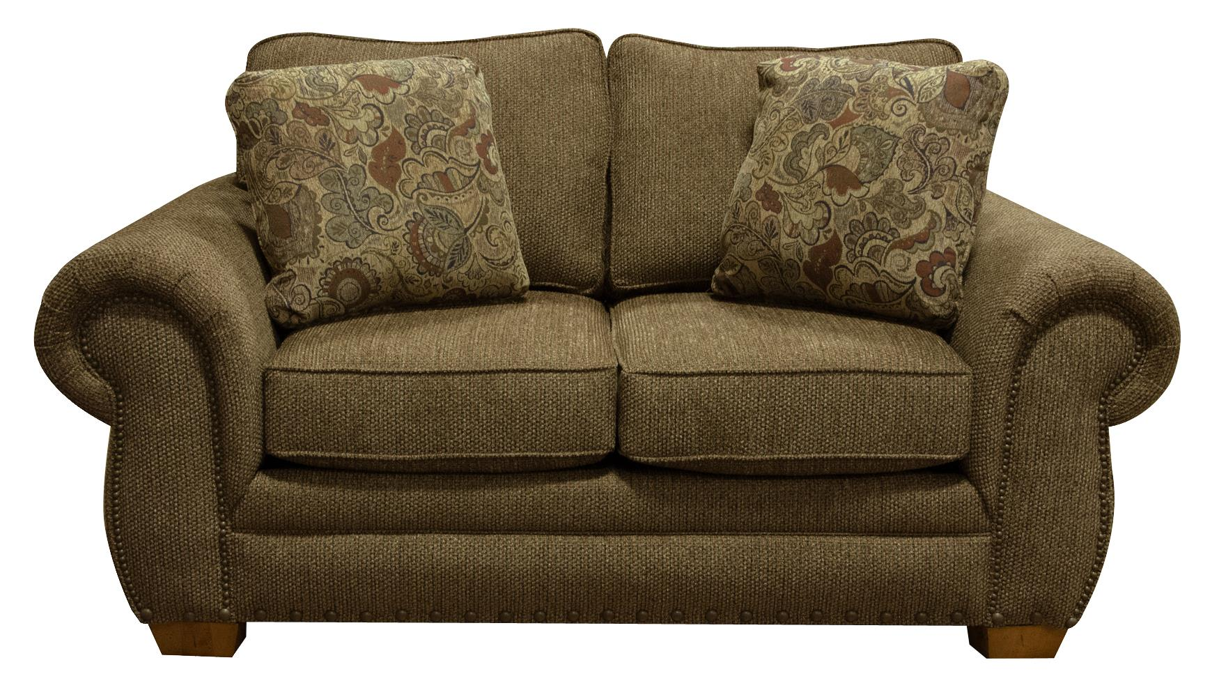 England Walters Loveseat with Nailhead Trim - Item Number: 6636N-6432