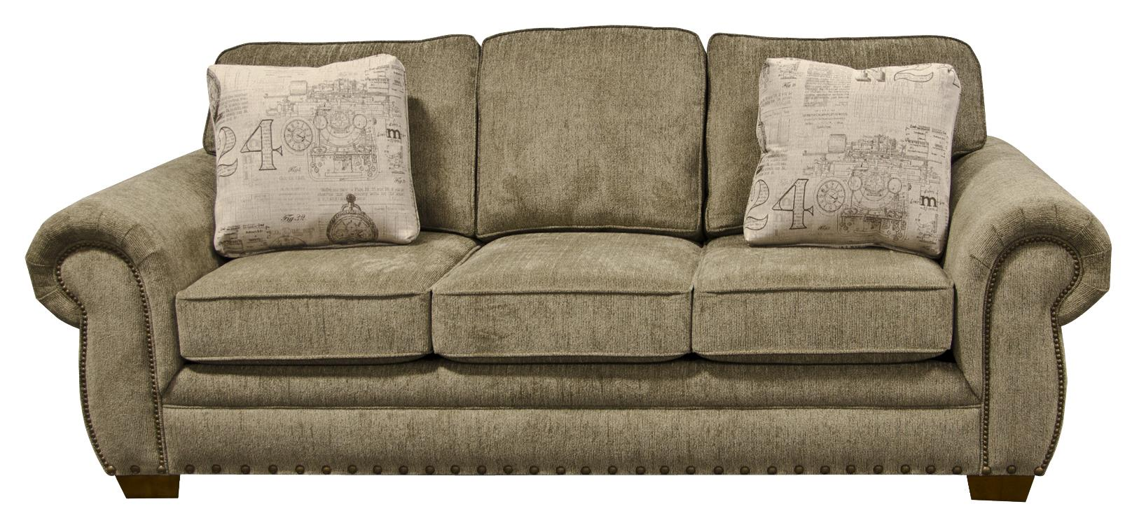 England Walters Sofa with Nailhead Trim - Item Number: 6635N-6844