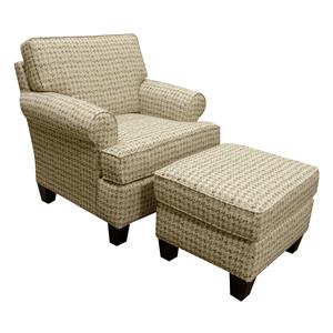 England Weaver Chair and Ottoman Set