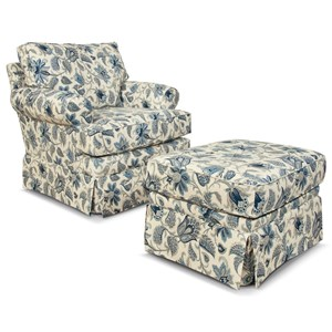 Traditional Chair & Ottoman