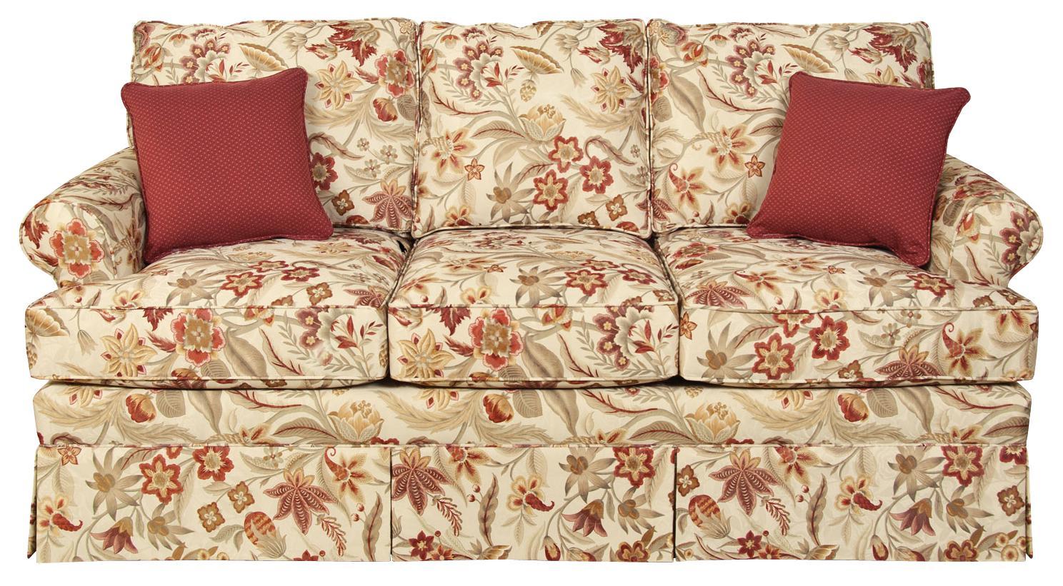 England William 5335 Traditional Skirted Sofa Dunk