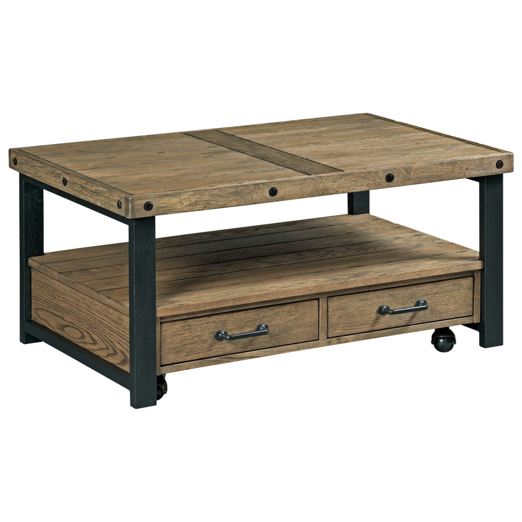 Ashley Furniture Horseheads Ny: England Workbench Small Rectangular 2-Drawer Cocktail