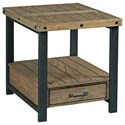 England Workbench Rectangular Drawer End Table - Item Number: H790915