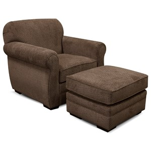 England Xaviar Chair and Ottoman