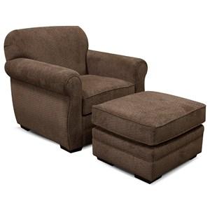 England Xaviar Chair and Ottoman