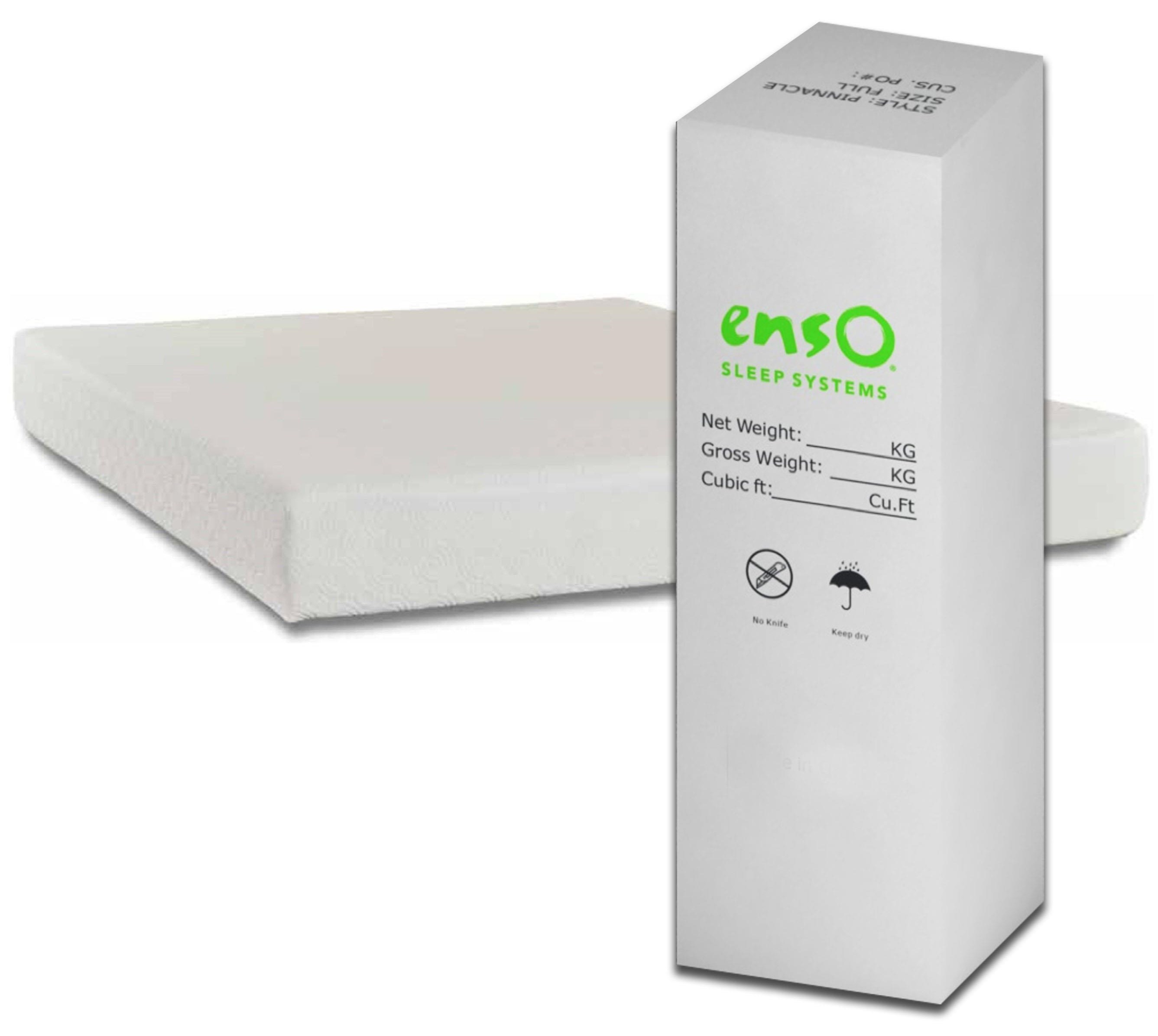 """Enso Sleep Systems Allure Bed-in-a-Box Twin 8"""" Gel Memory Foam Mattress - Item Number: Allure8-T"""