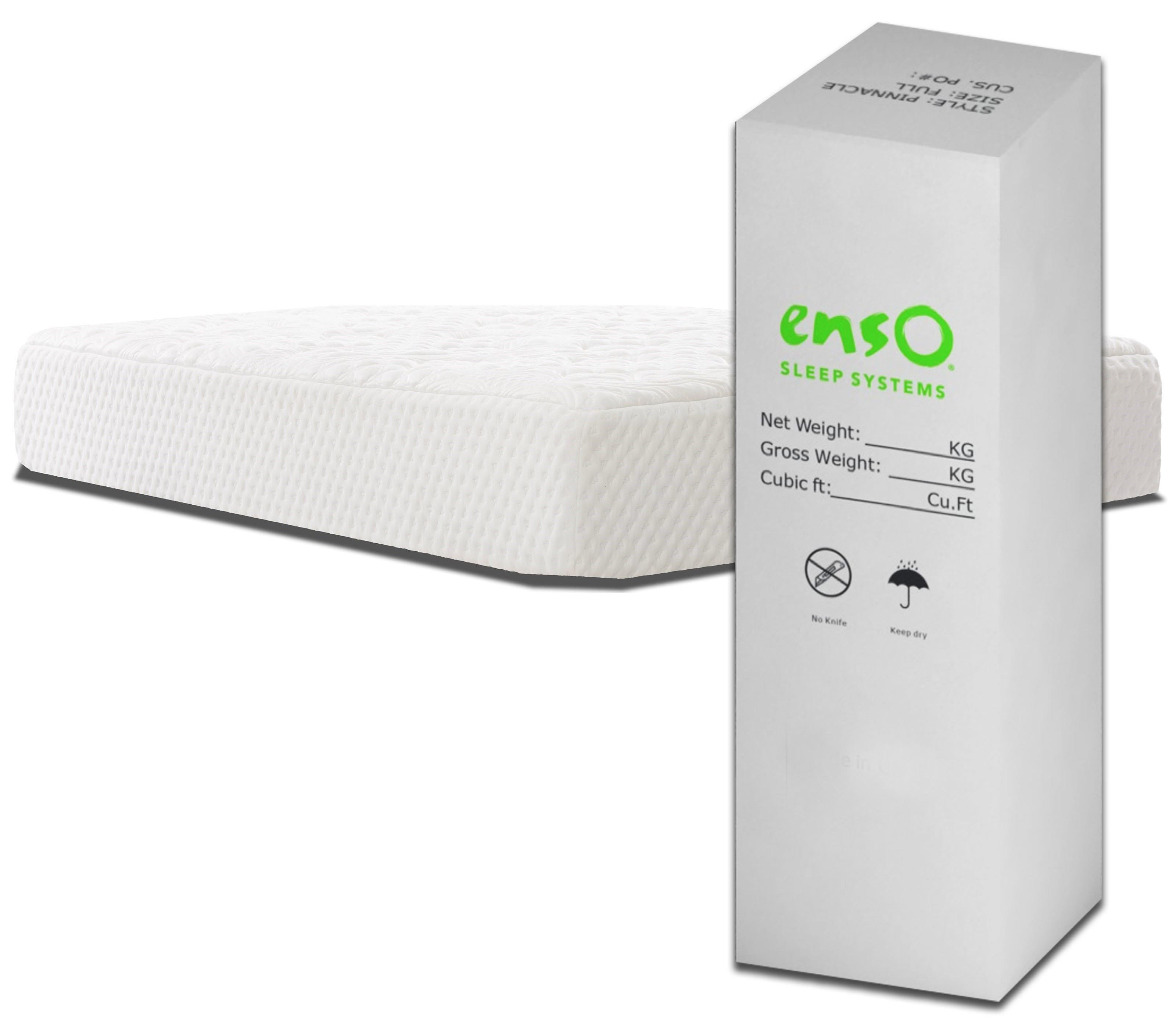 Enso Sleep Systems Monterey Bed In A Box King 12 Hybrid Mattress