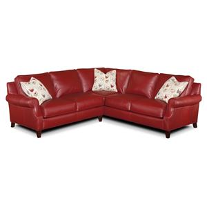 Envision by Bradington Young Twitter Sectional Sofa Group