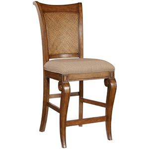 Hooker Furniture Windward Raffia Counter Stool