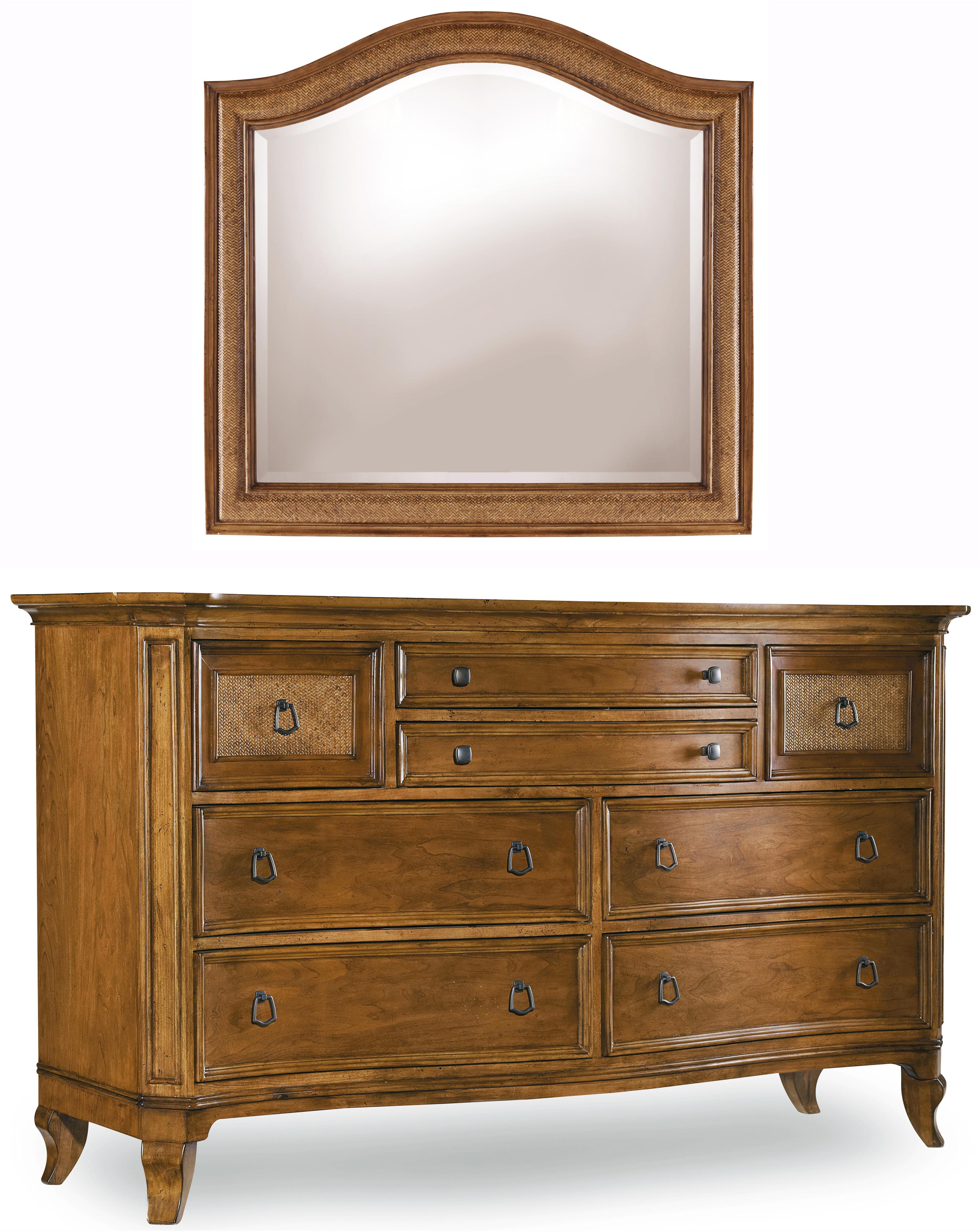 Hooker Furniture Windward Dresser & Mirror Combination - Item Number: 1125-91002+91009