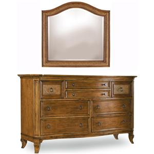 Hooker Furniture Windward Dresser & Mirror Combination