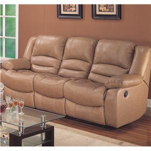 Casual Three Seater Dual Reclining Sofa With Lumbar Support