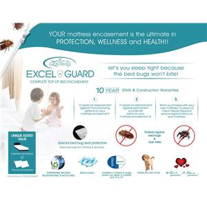 """Excelsior Excel Guard 14"""" Excel Guard Mattress Encasement - Queen"""