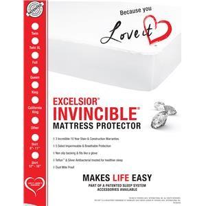 """Excelsior Invincible 16"""" Invincible Mattress Protector-E. King"""