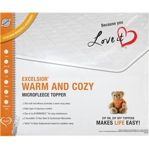 Excelsior Warm & Cozy King Mattress Topper