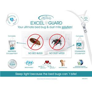 "Excelsior Excel Guard 9"" Cal King Foundation Encasement"