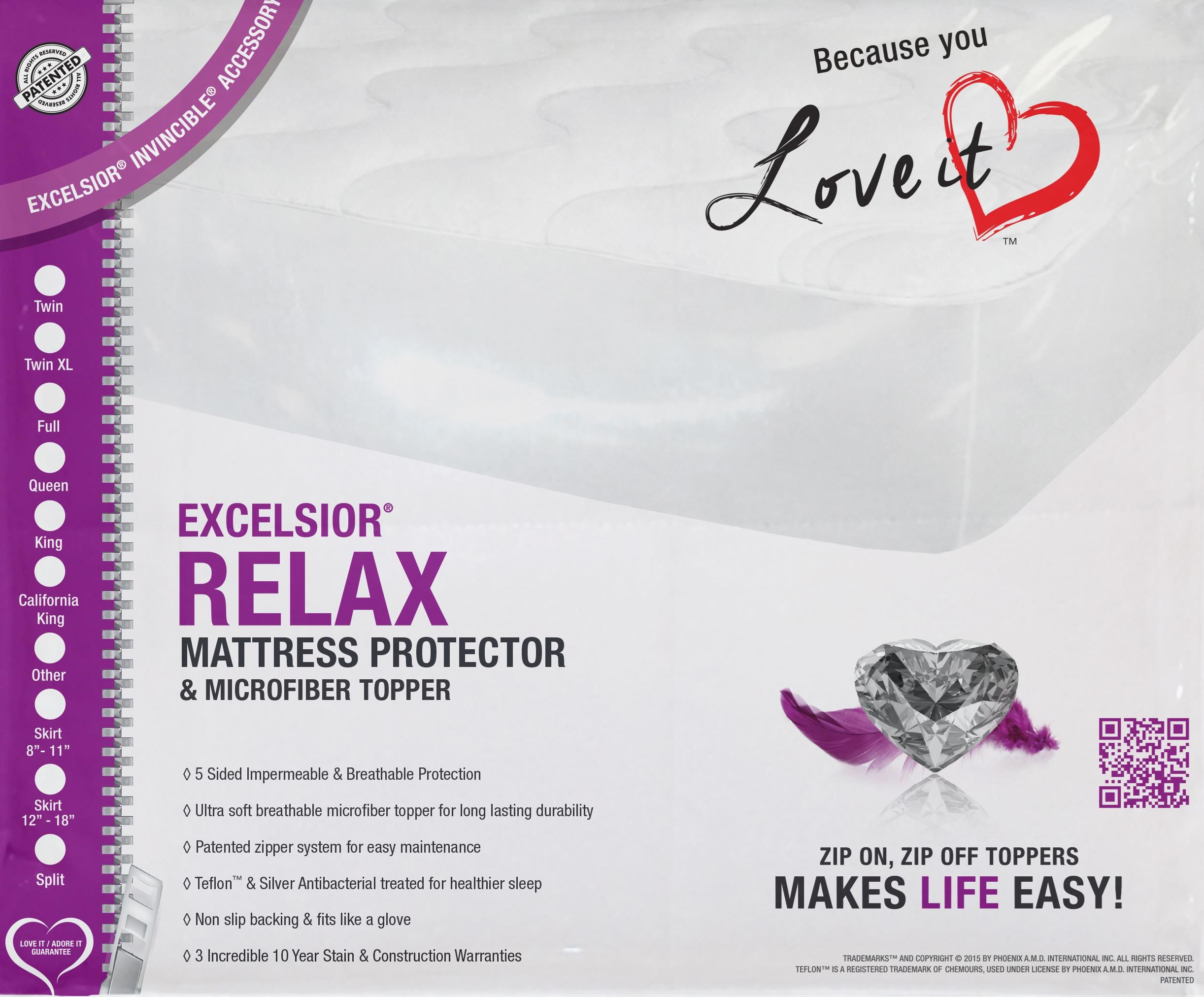 """Relax 16"""" Full Mattress Protector by Excelsior at SlumberWorld"""