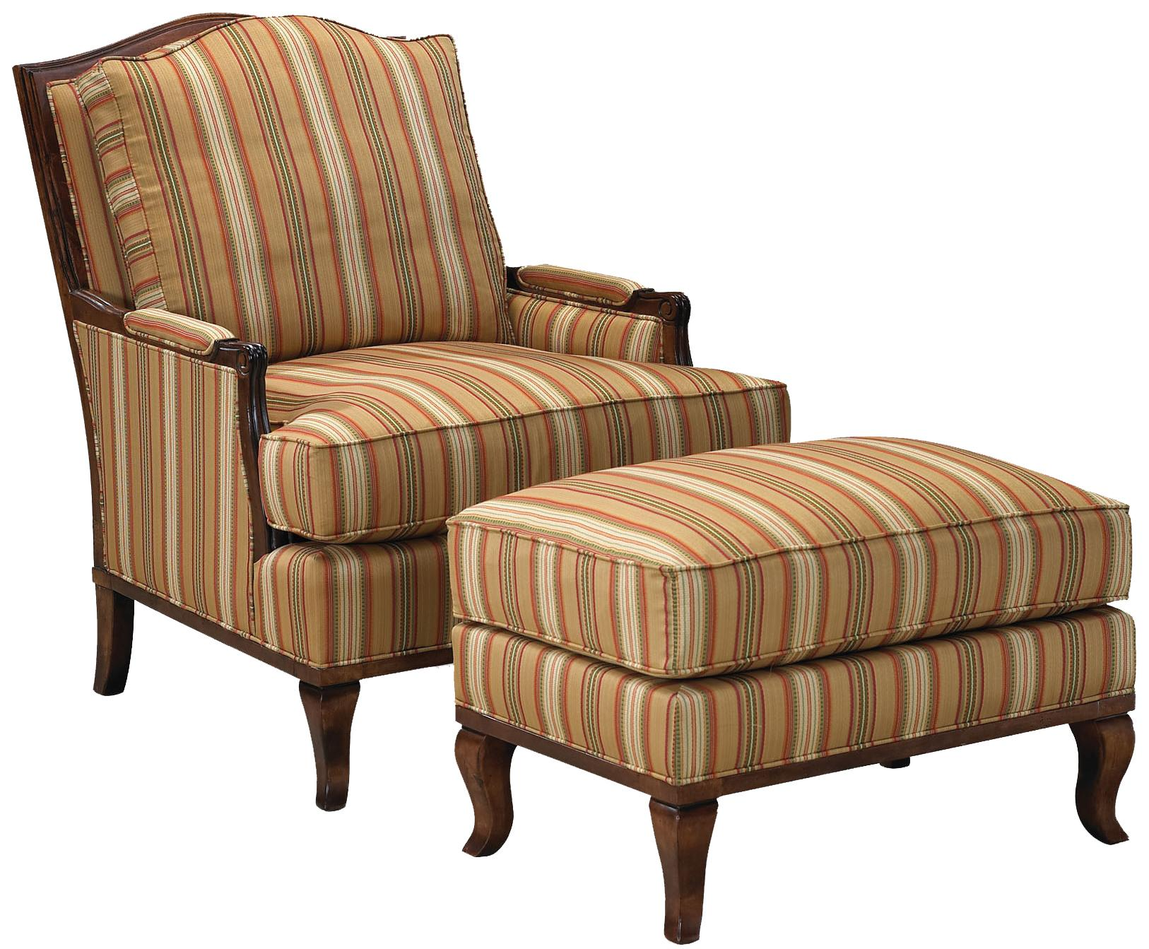 Fairfield 1416 Lounge Chair and Ottoman - Item Number: 1416-01+20