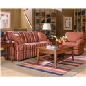 Fairfield 3722 Queen Sleeper Sofa with Bun Feet - Shown in Room Setting with Matching Chair