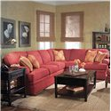 Fairfield 3722 Sectional Sofa - Item Number: 3722-52+53