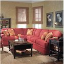 Fairfield 3722 Sectional Sofa with Sleeper - Item Number: 3722-54+62