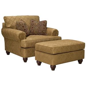 Fairfield 3738 Chair & Ottoman