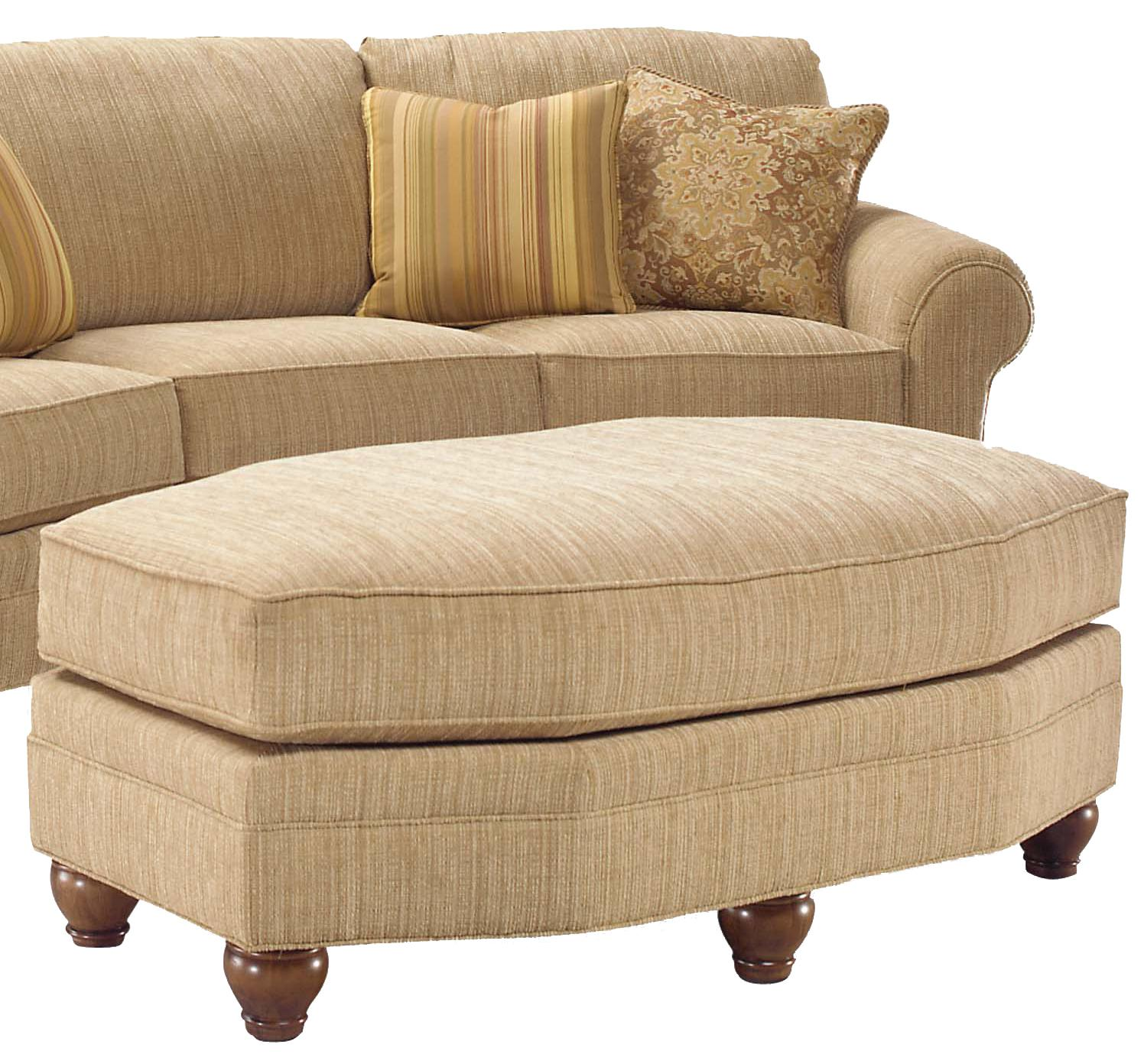 3768 Oval Ottoman by Fairfield at Stuckey Furniture