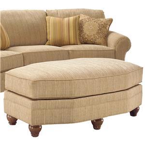 Fairfield 3768 Curved Arch Sofa Belfort Furniture Conversation Sofa
