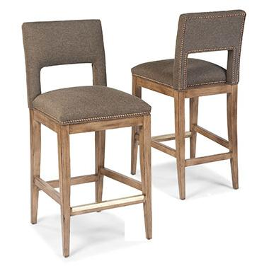 Fairfield Barstools Nailhead Barstool w/ Cutout - AHFA - Bar Stool ...