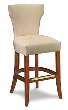 Upholstered Barstool w/ Curved Back