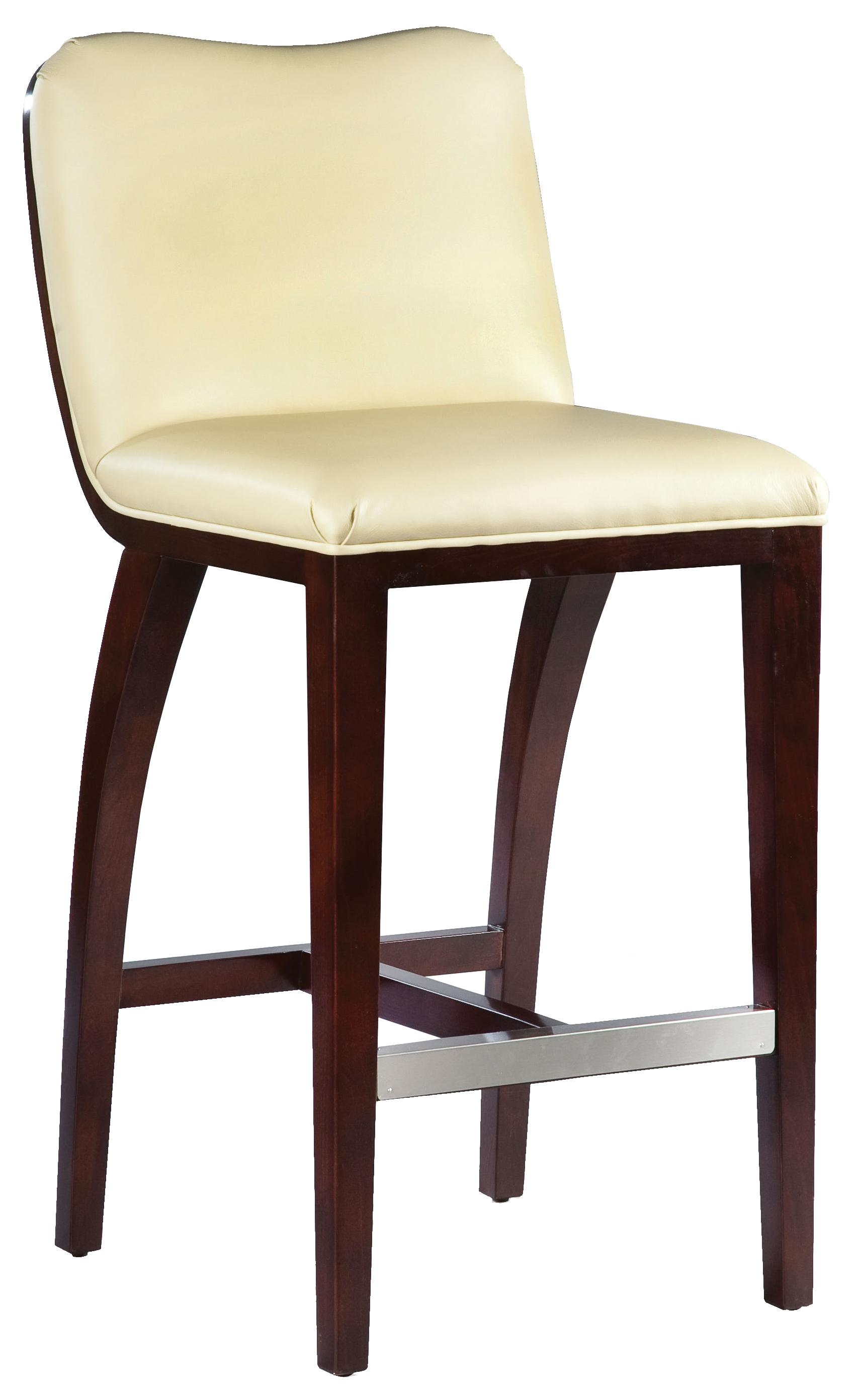Fairfield Barstools  High End Bar Stool with Wood Accents - Item Number: 5075-07